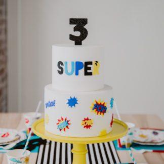 Super Hero Party In Box Cake