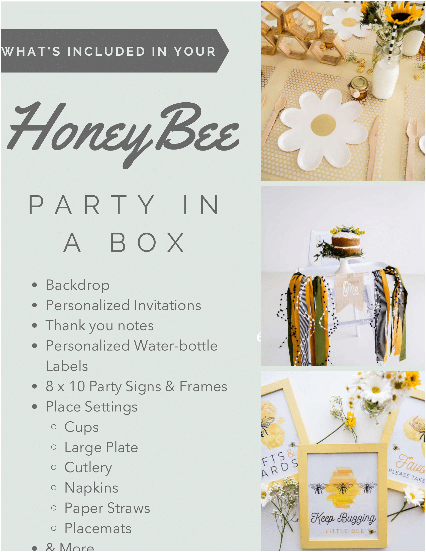 Whats Included - Honey Bee