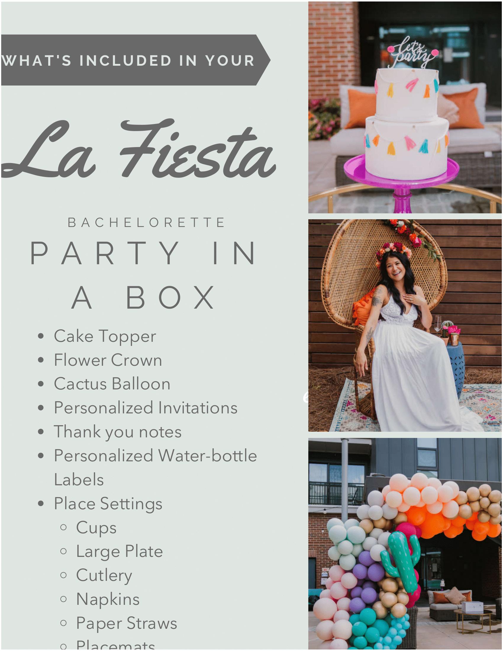 Whats Included - La Fiesta