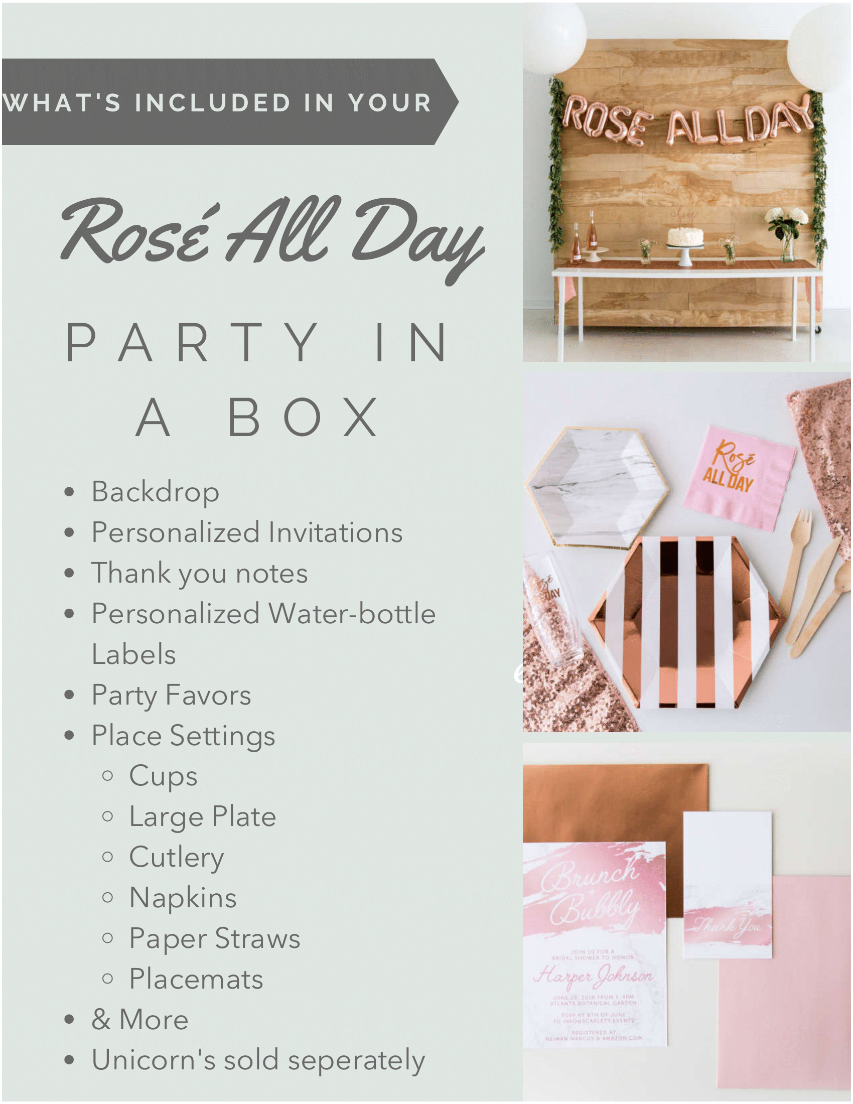 Whats Included - Rose All Day
